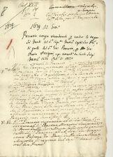 Milano - Precario Seicentesco per la Conduzione di Acque 1679