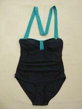 BNWOT Regatta DK NAVY/Turq H 'Hals paeddd Top Schwimmen Kostüm Größe 14