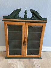 Table Top Hanging Curio Display Cabinet Case With Glass Doors