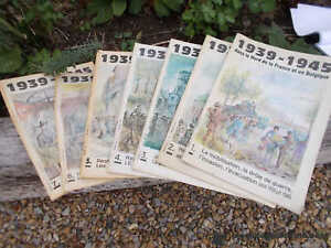 Set 7 French Magazines WW2 Memorabilia Collectables Ref T17/11
