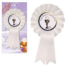 White Rosette Badge First Holy Communion C1905