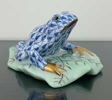 New ListingHerend Fishnet Frog On Leaf Blue Mint Condition! Adorable!