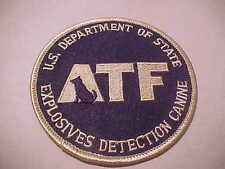 A.T.F.  EXPLOSIVE DETECTION K-9  POLICE PATCH TYPE 2