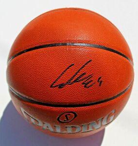 Lauri Markkanen Signed NBA Replica Game Ball w/COA Chicago Bulls Basketball #1
