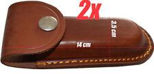 2x Lakota Leder Jagdmesser Tasche Messerscheide Messeretui Messerholster braun