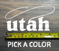 Utah Sticker Decal DIE CUT Fly Fishing Line Trout Rainbow Fish Simms Lake XO