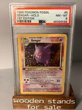 PSA 8 NM-MT Gengar 5/62 1st Edition Holo Rare Fossil Set Pokemon Trading Card