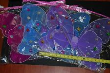 3x Flashing Light Up Party Wings Tinkerbell Wings Pixie Wings Fairy Wings