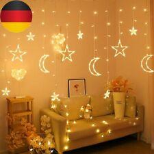 138LED Sonne Mond &Stern Fairy Schnüre Ramadan Urlaub Dekoration Licht Deko-DE