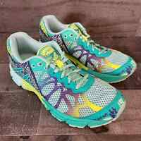 ASICS Womens Gel Noosa Tri 9 Running Shoes Multicolor Green C401N Low Top 4.5 M