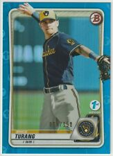 BRICE TURANG BFE-35 2020 Topps 1st Edition Bowman BLUE FOIL /150 - BREWERS