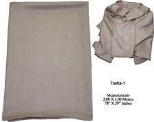Premium Cashmere Wool 70% & Silk 30% LARGE Shawl Wrap Stole Scarf Tusha-1