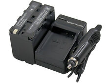 Battery + Charger NP-F970 F550 For NEX FS700 HVR-Z7E Z7U HVL-20DW Video Light