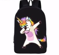 School Backpack Girls Unicorn Bag Shoulder Dabbing Dab Rucksacks Storage Bags