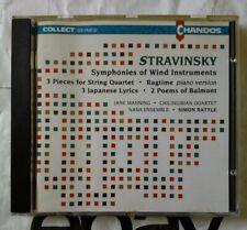Stravinsky : Symphonies Of Wind Instruments - Nash Ensemble / Rattle - CD (1991)
