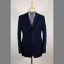 Brooks Brothers 41L Navy Solid Cotton Two Button Mens Sport Coat Blazer Jacket