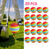 20PCS  Rainbow Stripe Foam Sponge Golf Balls Swing Practice Training Aids Ball U