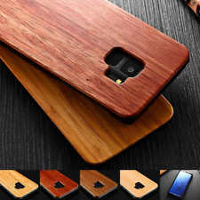 Thin Natural Wood Bamboo +PC Phone Fitted Case For Samsung Galaxy S9 Note 10 Pro
