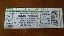 Ticket Eintrittskarte Justin Timberlake von 2003 Nassau Coliseum 2003