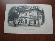 French Indo China Postcard Used 1903 Postmark Saigon Chamber of Commerce