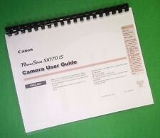 LASER Printed Canon SX170-IS Power Shot Full Camera 134 Page Owners Manual Guide