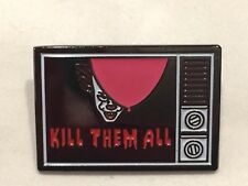 It Pennywise Clown w/ Red Balloon Tv Kill Them All Lapel Pin Free Ship in Usa