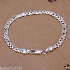 Bracelet Femme Plaqué Argent Maille Américaine