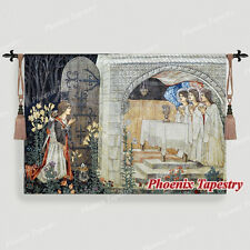 """William Morris Medieval Holy Grail Wall Tapestry The Achievement II, 55""""x38"""", UK"""