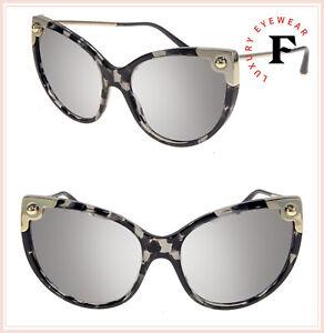 DOLCE & GABBANA LUCIA DG 4337 Grey Havana Silver Mirrored Sunglasses DG4337S