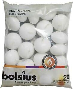 Bolsius Floating Candle, White, Wax, 4.5cm w X 3cm h