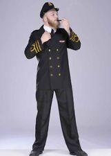 Adult 1940s Wartime Navy Captain Officer Costume