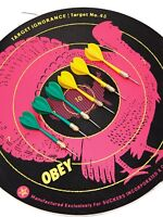 "SHEPARD FAIREY ""Target Ignorance"" Dartboard - sérigraphie sur cible ed-lim /obey"