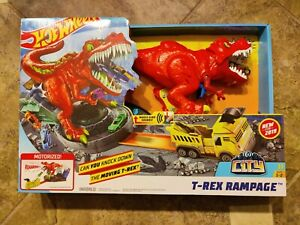 Hot Wheels City T-Rex Rampage Playset, New And Unopened