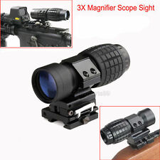 Hunting 3X Magnifier w/ FTS Flip to Side Mount fit Reflex & Holographic Sights 8