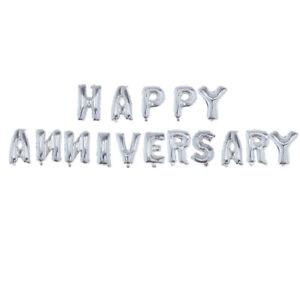 "16"" HAPPY ANNIVERSARY Letter Foil Balloons Aluminum Anniversary Memorial Day)"