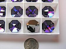72 PIECES SWAROVSKI BUTTONS/SEW-ONS - 3260 - 16MM HELIOTROPE - 2 HOLE OCTAGON