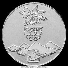 OLYMPIC PIN 1998 NAGANO JAPAN SILVER MEDAL SNOWBOARDING