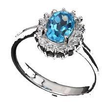 Bague Topaze bleu . Argent 925. TMPL_SKU005716