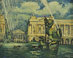 Signed Arketche Dated 1941 - Place de La Concorde Paris