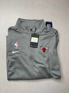 Nike Chicago Bulls Team Issued 1/4 Zip Up Long Sleeve Shirt AV1739-002 Mens S