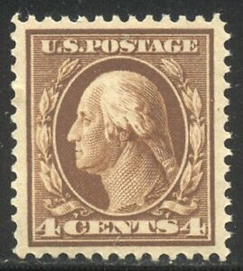 U.S. #377 Mint XF NH - 4c Brown, SLW ($65)
