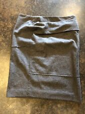 Brunello Cucinelli Gray Wool Pleated Detailed Pencil skirt 38 XS