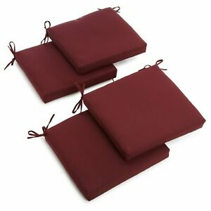 20-inch by 19-inch Twill Chair Cushion (Set of Four) - Chocolate