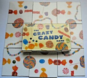 The Crazy Candy Game Puzzle 2000 Price Stern Sloan PSS 9 Pieces Square