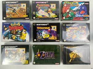 Super Nintendo SNES, N64 Spiele (Auswahl) OVP für Sammler Zelda Mario Pokemon