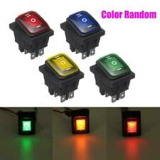 1Set On-Off-On 12V Car Boat LED Light Rocker Toggle Switch Latching Durable