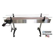 "DEPENDABLE EQUIPMENTS CONVEYOR 6' x 7"" WITH PLASTIC TABLE TOP BELT"
