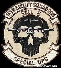 USAF 16th AIRLIFT SQUADRON -SOL II- SPECIAL OPS -ORIGINAL AIR FORCE DESERT PATCH