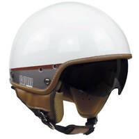 Casco Demi Jet Moto Con Occhiale Int Omologato CGM 105G Granada Bianco Taglia XS