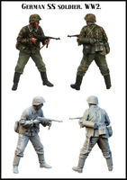 1/35 Scale Resin Figure Model Kit SS Soldier EM-35172